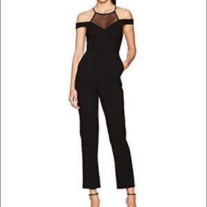 BCBGeneration Halter Off the Shoulder Jumpsuit